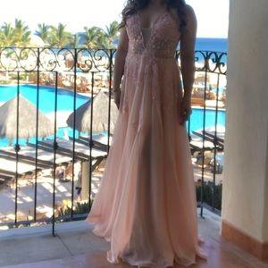 Jovani Peach Prom Dress Style #58632